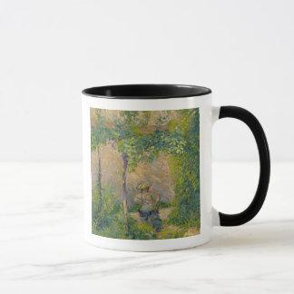 Mug Femme dans le jardin (huile sur la toile)