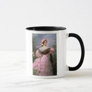 Mug Femme élégante dans une roseraie