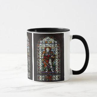 Mug Fenêtre en verre teinté de St George - monogramme