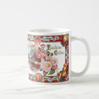 Mug Ferme, fruit et thanksgiving rose de mamans