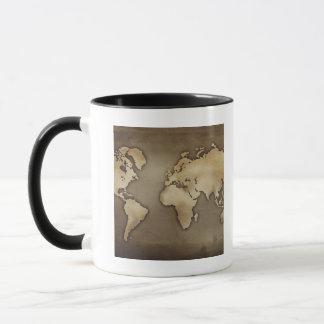 Mug Fermez-vous de la carte antique 4 du monde