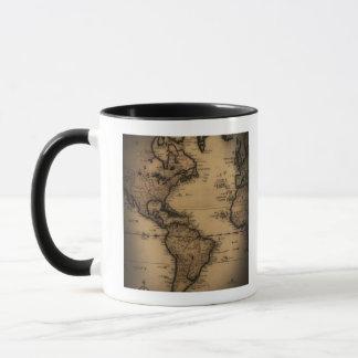 Mug Fermez-vous de la carte antique du monde