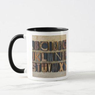 Mug Fermez-vous de l'alphabet sur l'impression