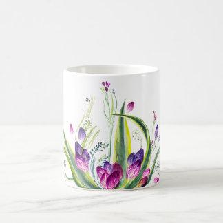Mug Feuille et fleurs tropicaux pour l'heure du thé