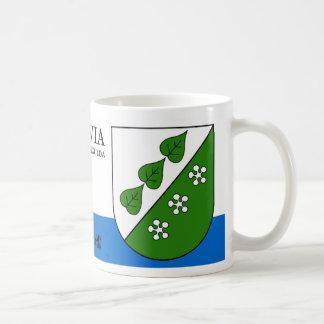 Mug Feuille et fleurs verts de Sigulda Lettonie