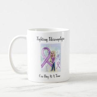 """Mug """"Fibromyalgie de combat un jour à la fois """""""