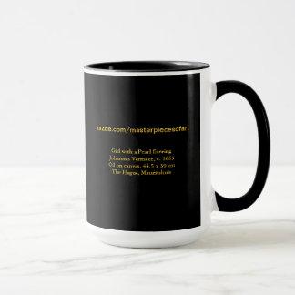 Mug Fille avec des beaux-arts de Vermeer de boucle