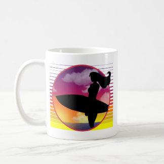 Mug Fille de surfer