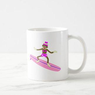 Mug Fille de surfer de singe de chaussette