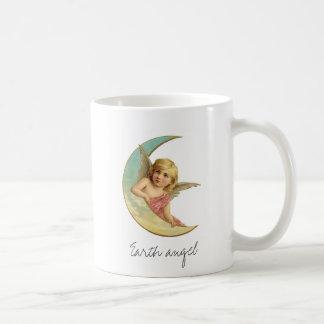 Mug Fille victorienne vintage de lune d'ange de la