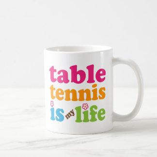 Mug Filles de cadeau de joueur de ping-pong