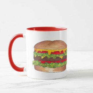 Mug Fin gourmet de petit pain de cheeseburger