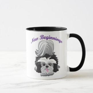 Mug Fins heureuses de nouveaux débuts