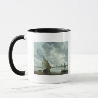 Mug Fishingboat dans un estuaire, 1655