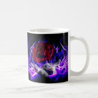 Mug Flamme violette rose et main de dieux