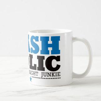Mug Flashaholic - drogué final de lampe-torche - bleu