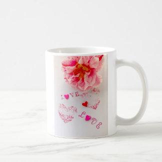 Mug Fleur, coeurs et amour de camélia
