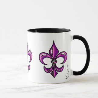 Mug Fleur de Lis en lavande pourpre