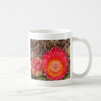 Mug Fleur rose de cactus de baril de l'Arizona