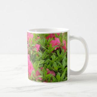 Mug Fleur rose de ressort de rhododendron