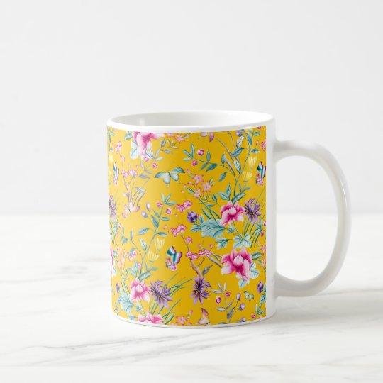 Mug fleuri jaune