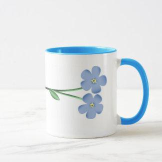 Mug Fleurs bleues latérales