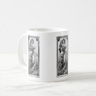 Mug Fleurs cassées par Mucha d'Alphonse