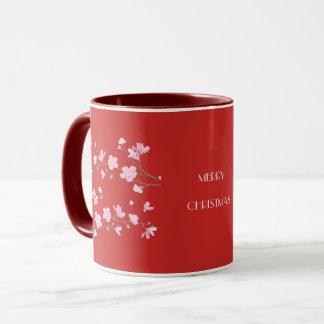Mug Fleurs de cerisier - rouge - Joyeux Noël