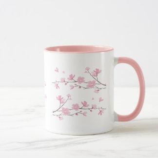 Mug Fleurs de cerisier - transparentes
