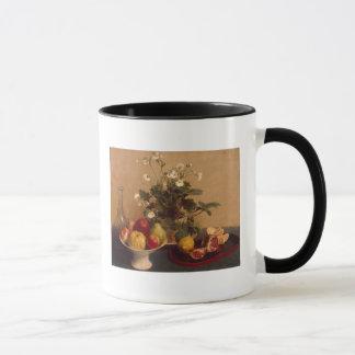 Mug Fleurs, plat avec le fruit et carafe, 1865
