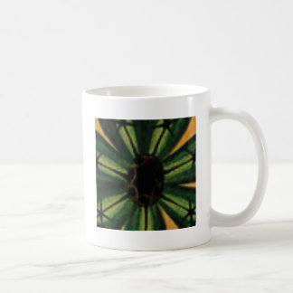 Mug fleurs vertes de pétale
