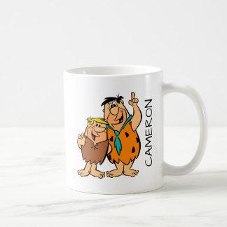 Mug Flintstone de blocaille et de Fred de prise de bec