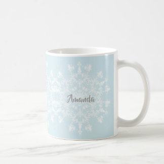 Mug Flocon de neige abstrait
