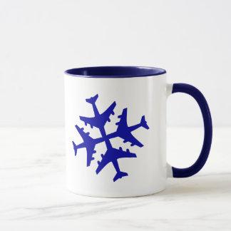 Mug Flocon de neige d'avion