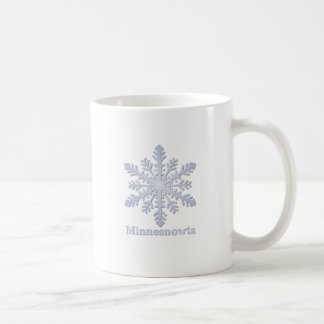Mug Flocon de neige de bleu de Minnesnowta