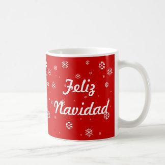 Mug Flocons de neige de Feliz Navidad