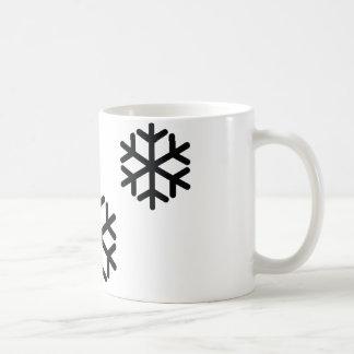 Mug flocons de neige noirs