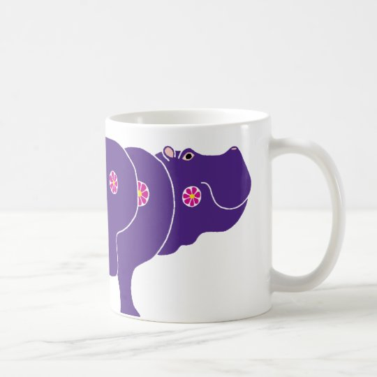 Mug flower hippo