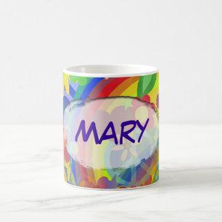 Mug Flower power et votre nom