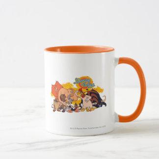 Mug Fonte Looney et logo d'exposition d'airs