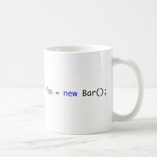Mug foo = nouvelle barre () ;