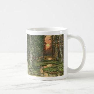 """Mug """"Forêt de féerie au coucher du soleil"""" par Ivan"""