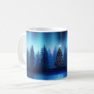 Mug Forêt paisible de Noël d'arbre de Noël