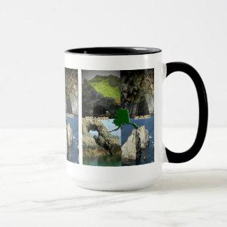 Mug Formations et cavernes de roche en collage de