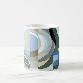 Mug Formes géométriques d'art déco de jazz vintage de