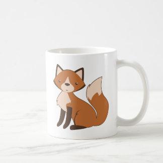 Mug Fox se reposant mignon