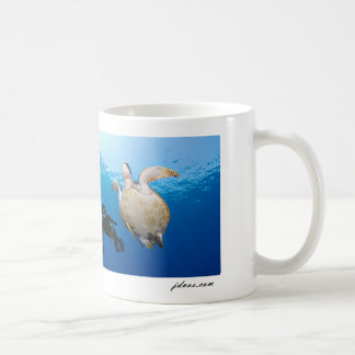 Mug Freediver et tortue verte