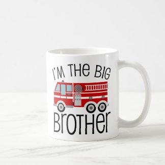 Mug Frère de camion de pompiers rouge