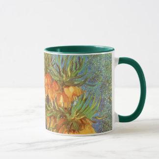 Mug Fritillaires dans un vase de cuivre par Vincent