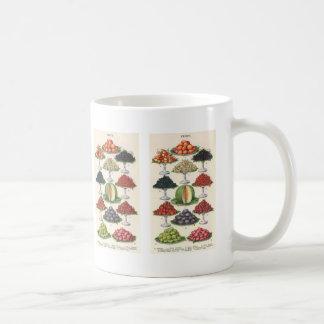 Mug Fruit assorti par nourritures vintages sur des